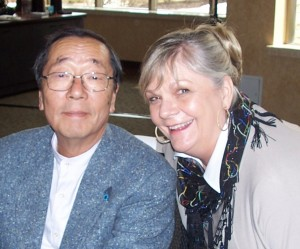 Judy with Dr. Emoto at Healhty Workplaces conference